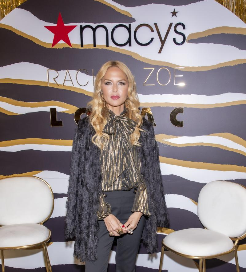 Rachel Zoe at Macy`s Herald Square. New York, NY, USA - December 3, 2019: Rachel Zoe attends the launch of her new beauty collection with LORAC at Macy`s Herald stock photography