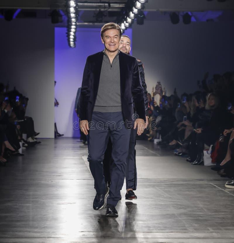 Blue Jacket Fashion Show 2020 royalty free stock image