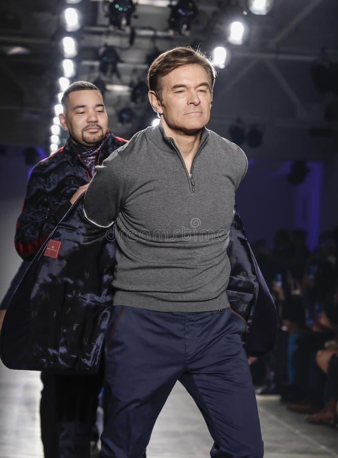 Blue Jacket Fashion Show 2020 royalty free stock images