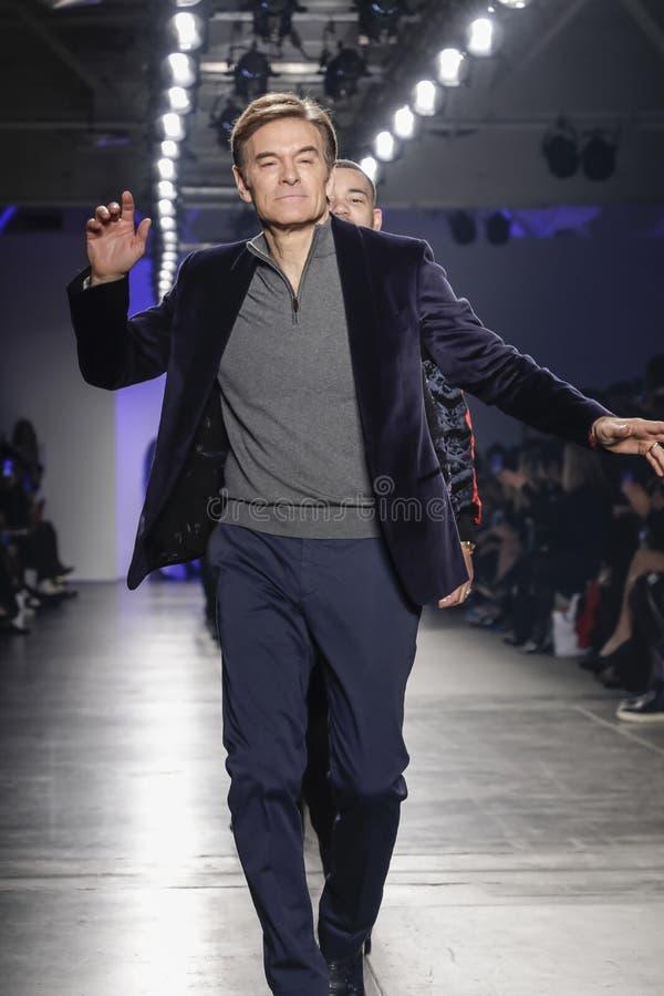 Blue Jacket Fashion Show 2020 royalty free stock photography