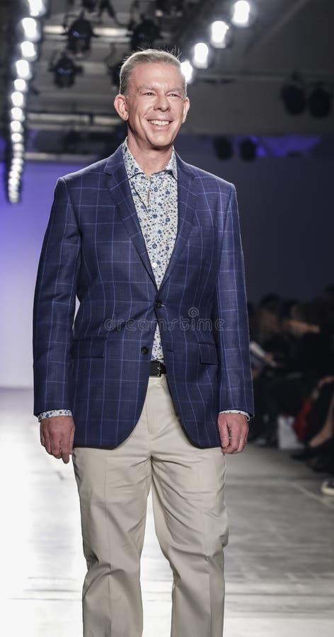Blue Jacket Fashion Show 2020 royalty free stock photos