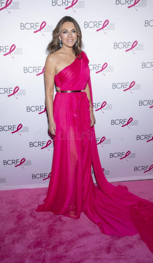 BCRF 2019 Hot Pink Party arrivals. New York, NY, USA - May 15, 2019: Elizabeth Hurley attends the Breast Cancer Research Foundation 2019 Hot Pink Party at Park stock images