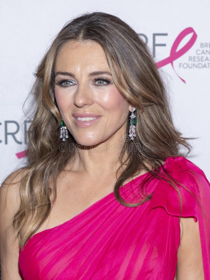 BCRF 2019 Hot Pink Party arrivals. New York, NY, USA - May 15, 2019: Elizabeth Hurley attends the Breast Cancer Research Foundation 2019 Hot Pink Party at Park stock photo