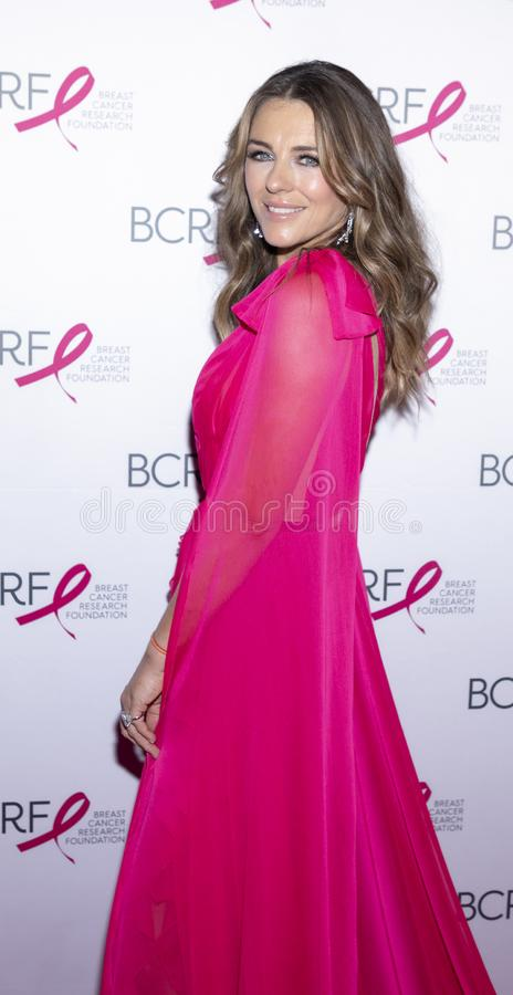 BCRF 2019 Hot Pink Party arrivals. New York, NY, USA - May 15, 2019: Elizabeth Hurley attends the Breast Cancer Research Foundation 2019 Hot Pink Party at Park royalty free stock photo