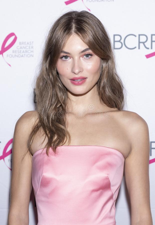 BCRF 2019 Hot Pink Party arrivals. New York, NY, USA - May 15, 2019: Grace Elizabeth attends the Breast Cancer Research Foundation 2019 Hot Pink Party at Park stock photography