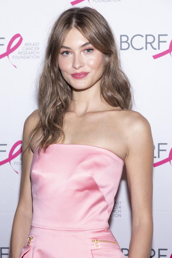 BCRF 2019 Hot Pink Party arrivals. New York, NY, USA - May 15, 2019: Grace Elizabeth attends the Breast Cancer Research Foundation 2019 Hot Pink Party at Park royalty free stock photography