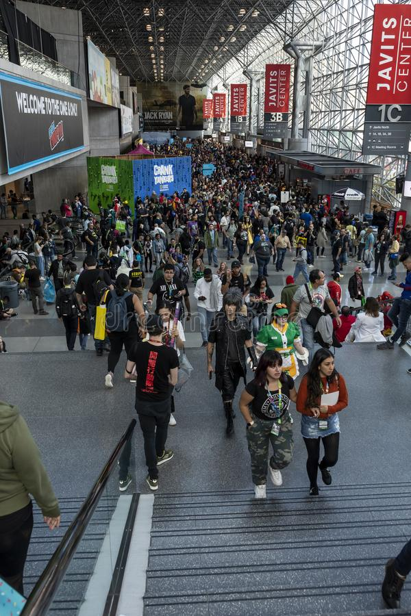 Comic Con NYC 2019 stock images