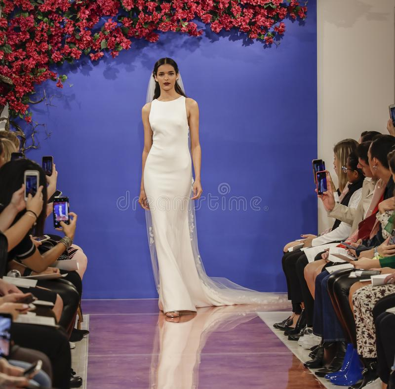Theia Bridal Fall 2020 stock photography