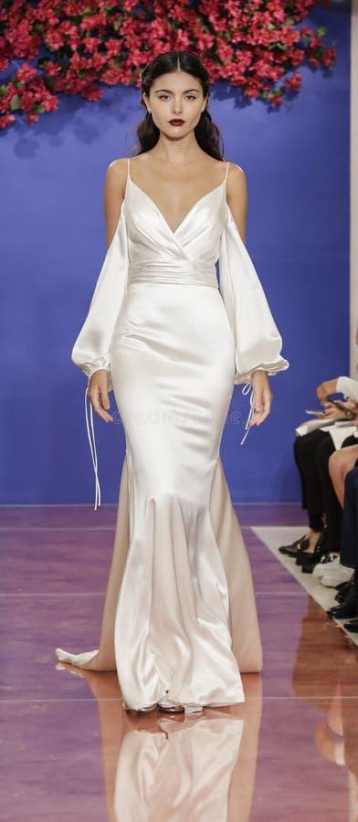Theia Bridal Fall 2020 royalty free stock photo