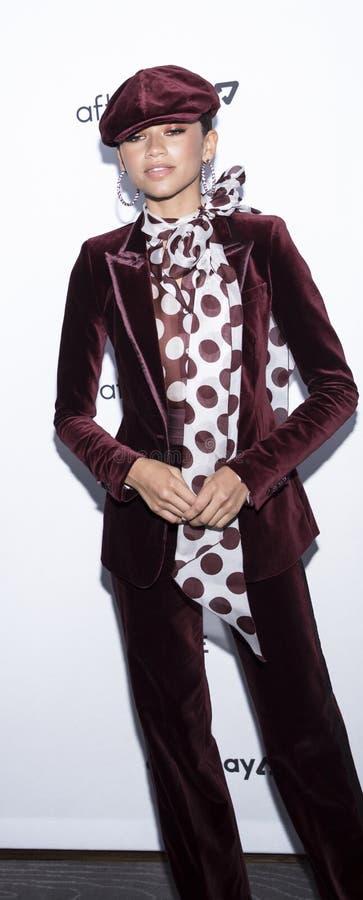 The Daily Front Row 7th Fashion Media Awards. New York, NY, USA - September 5, 2019: Actress Zendaya Coleman wearing  Tommy x Zendaya attends The Daily Front Row royalty free stock photography