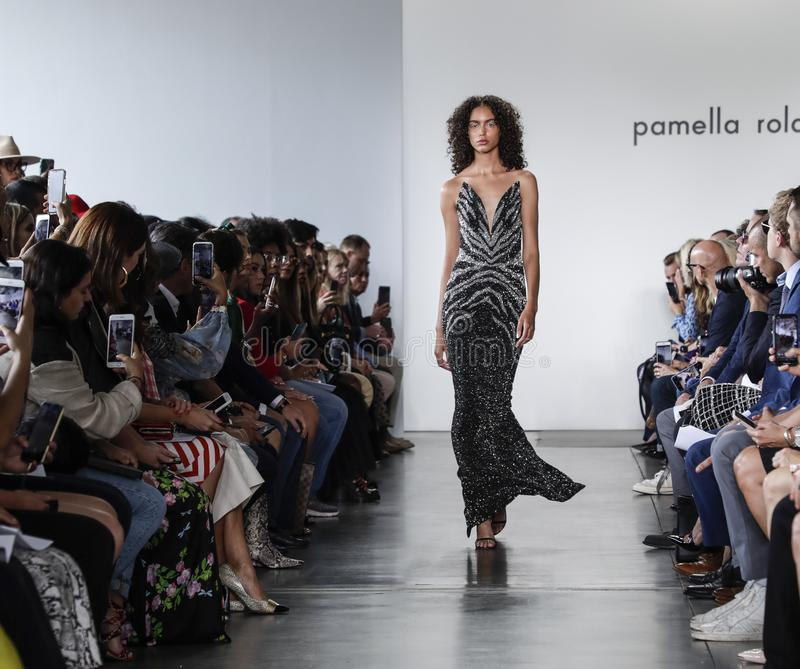 Pamella Roland SS 2020 royalty free stock photo