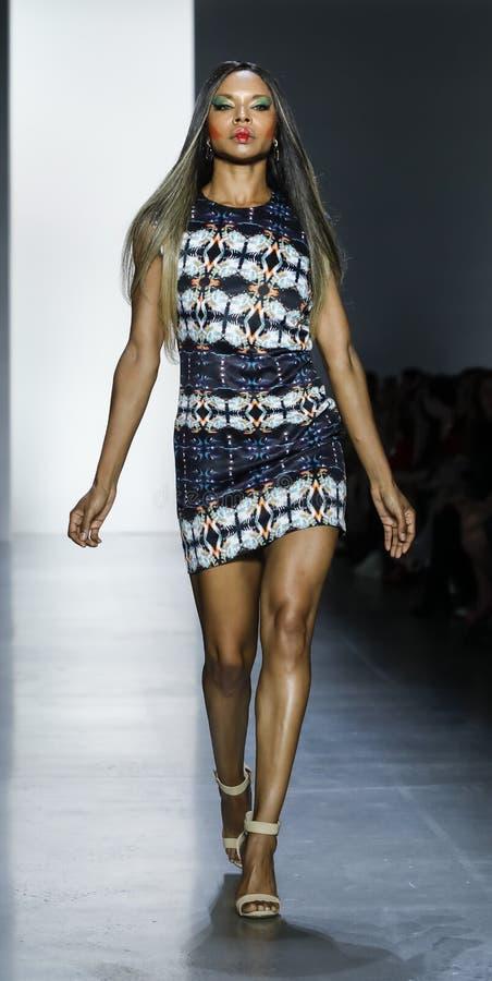 Dan Liu SS19. New York, NY, USA - September 11, 2018: A model walks runway to present Dan Liu Spring/Summer 2019 collection during New York Fashion Week at stock photos
