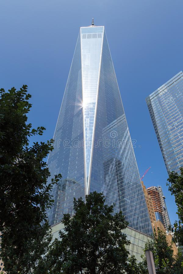 World Trade Center complex and One World Center building, New York. royalty free stock image