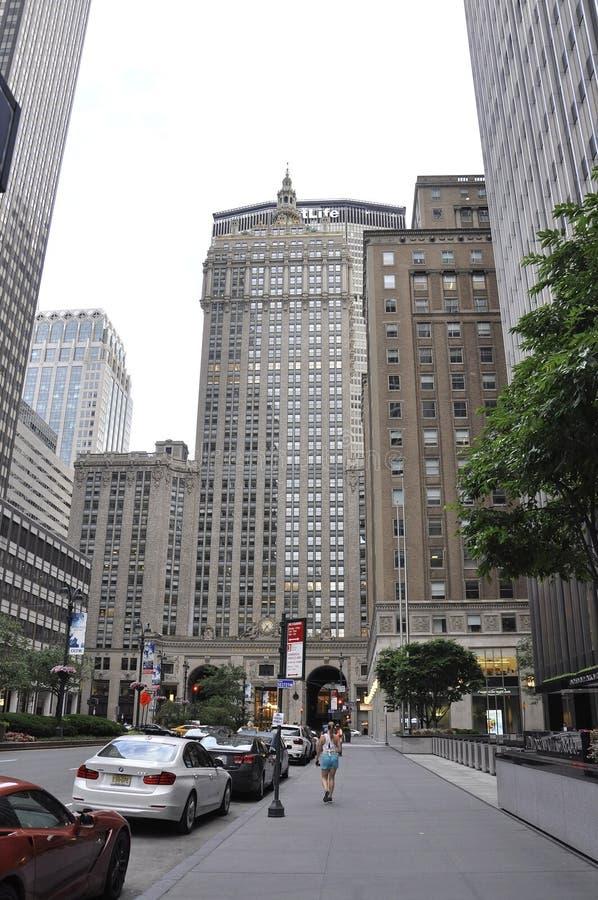 New York, o 3 de julho: Construção de Helmsley em Manhattan de New York City no Estados Unidos foto de stock
