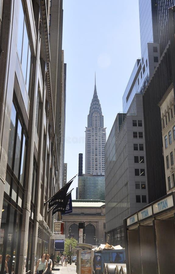 New York, o 2 de julho: Torre de Crysler no Midtown Manhattan de New York City no Estados Unidos imagens de stock royalty free