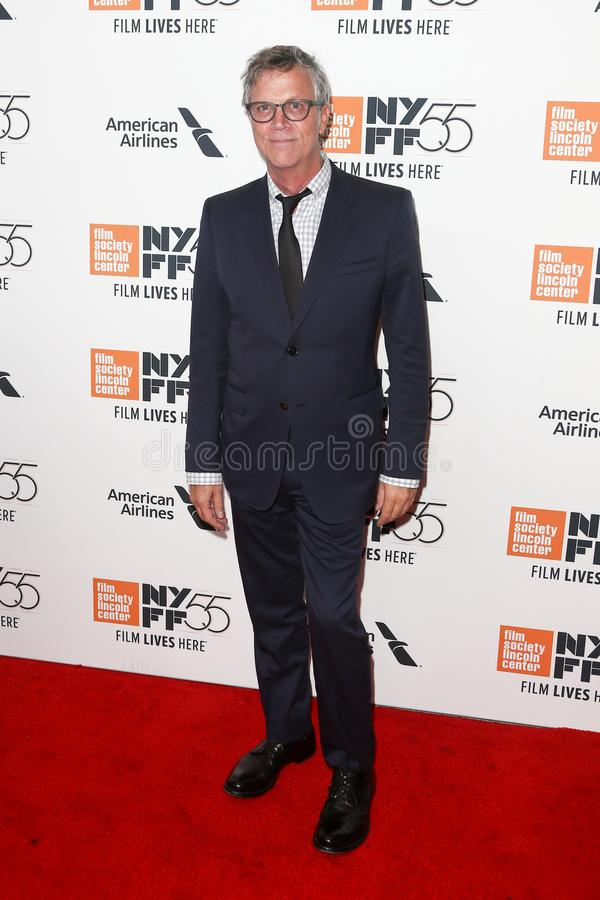 Todd Haynes. NEW YORK-OCT 07: Director Todd Haynes attends the `Wonderstruck` premiere at the 55th New York Film Festival at Alice Tully Hall at Lincoln Center royalty free stock photo