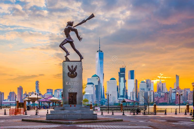 Katyń Memorial in Jersey City royalty free stock photography