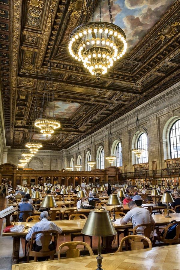 New York offentligt bibliotek royaltyfri fotografi