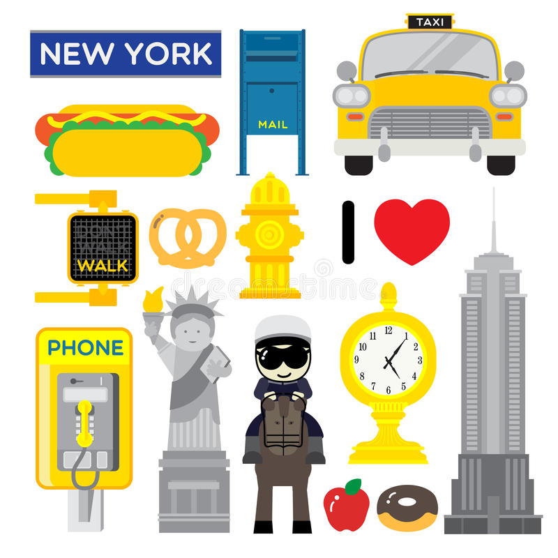 New York, one of the most popular metropolis in the world royalty free illustration
