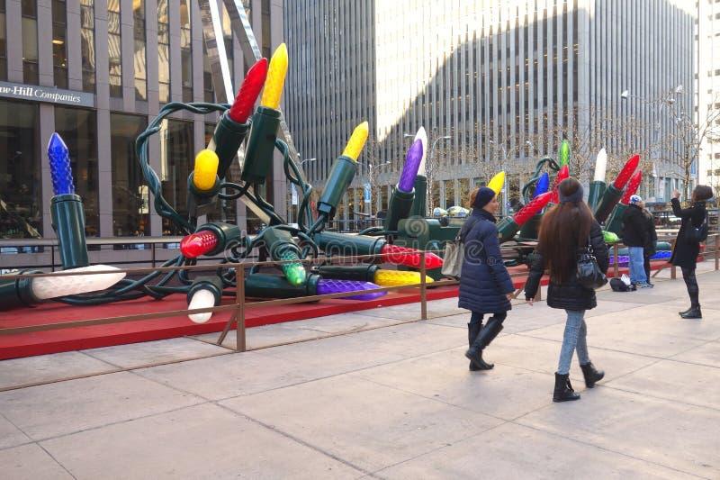 New York på jultiden arkivfoton