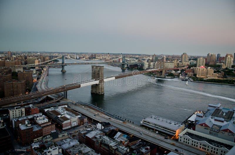 New York på skymning royaltyfria foton