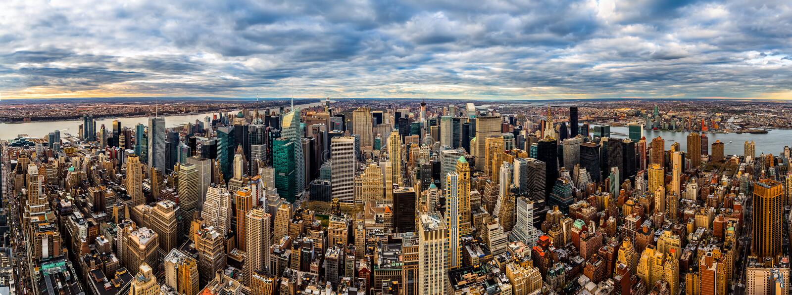 New York panorama royaltyfri bild