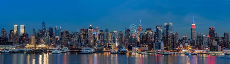 New York panorama på presidentdag royaltyfri foto
