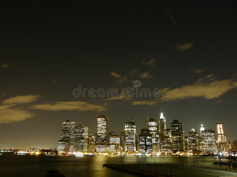 New York par nuit photo libre de droits