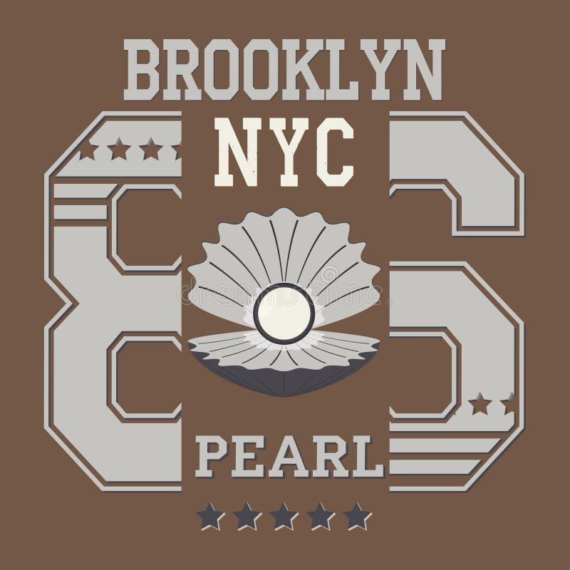 New york pearl stock illustration