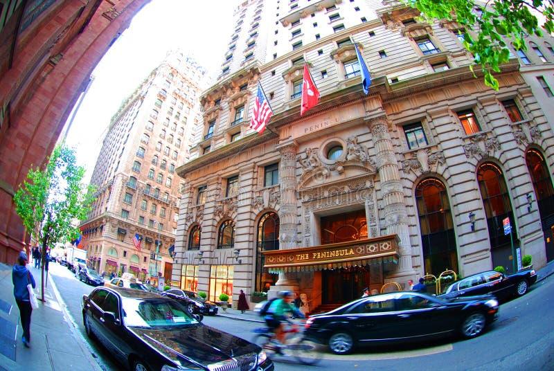 New York - Peninsula Hotel royalty free stock images
