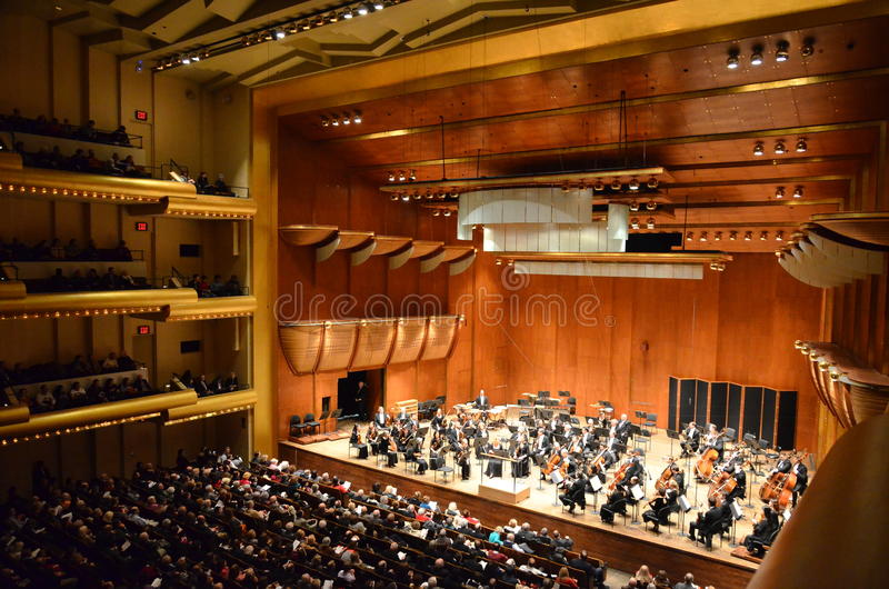 New York philharmonique chez Avery Fisher Hall, Lincol image libre de droits