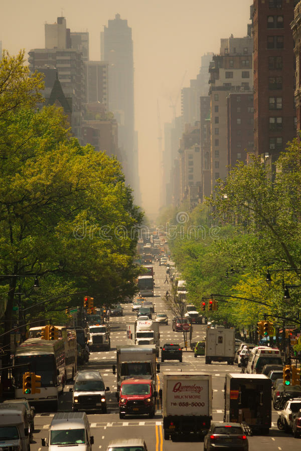 New York Pollution stock photo