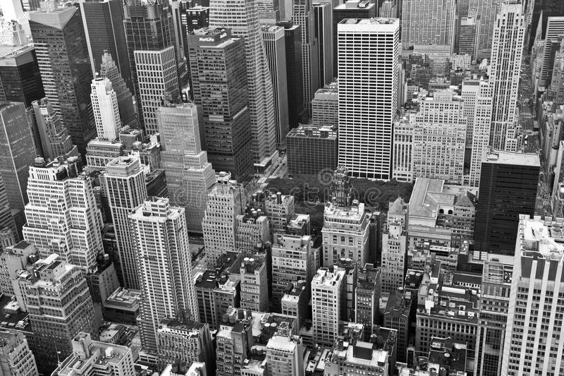 New York preto e branco fotografia de stock
