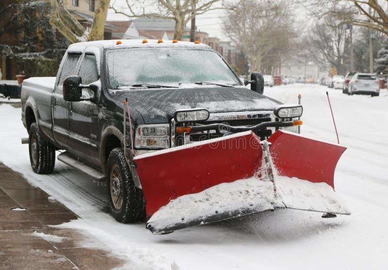 New York pronto per pulisce dopo che la tempesta massiccia Juno della neve colpisce a nordest fotografia stock libera da diritti