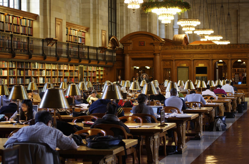 New York Public Library Reading Room stock images