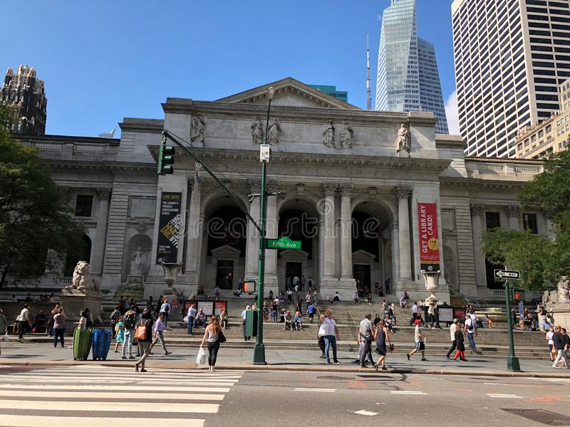 New York Public Library royalty free stock images