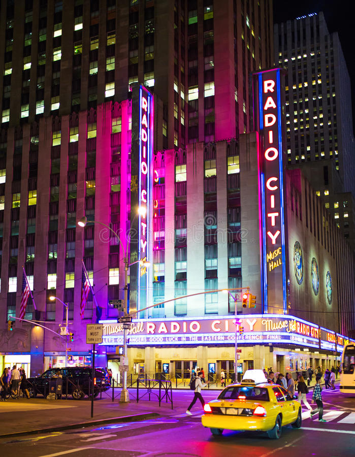 New York, Radiostad stock foto