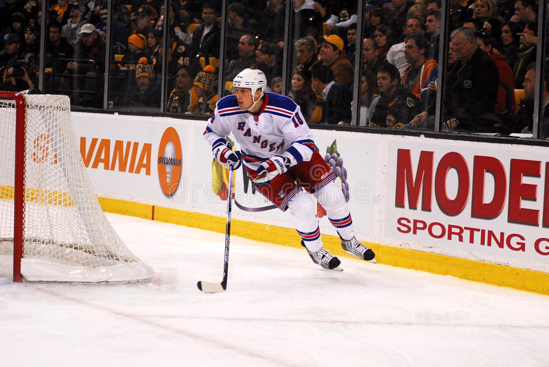 New York Rangers Defenseman Marc Staal. #18 royalty free stock images