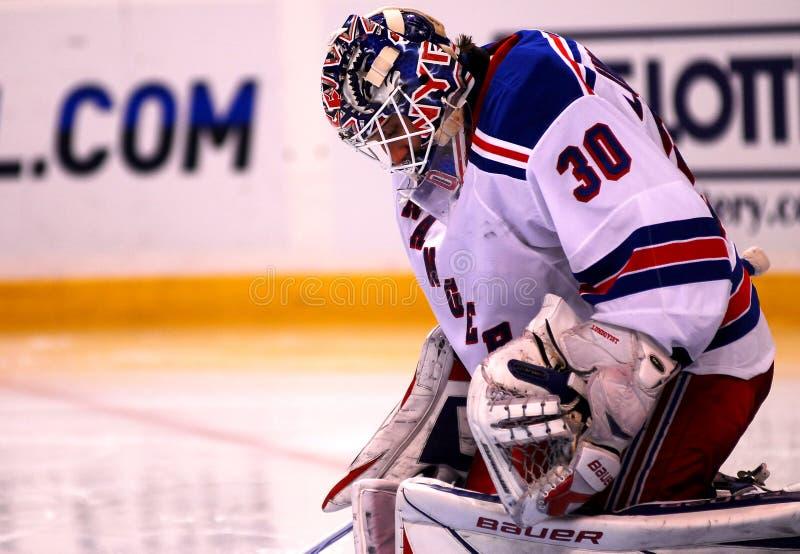 New York Rangers Henrik Lundqvist royalty free stock photos