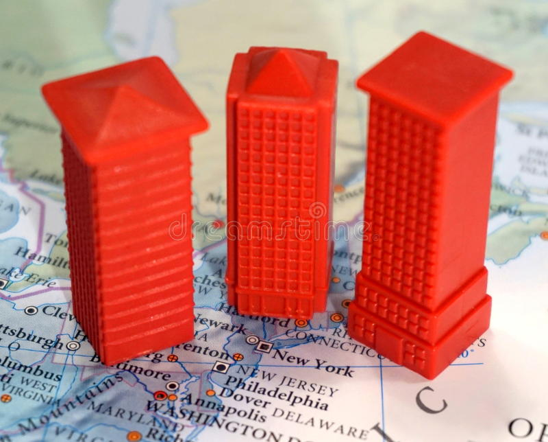 New York Real Estate arkivbilder