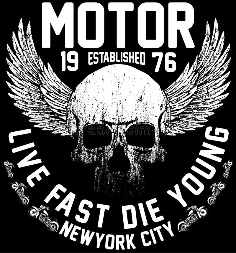 New york riders motorcycle club tee graphic design. Fashion style vector illustration