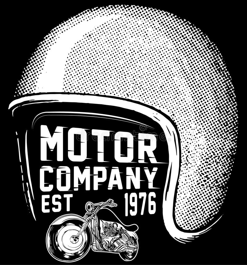 New york riders motorcycle club tee graphic design. Fashion style stock illustration