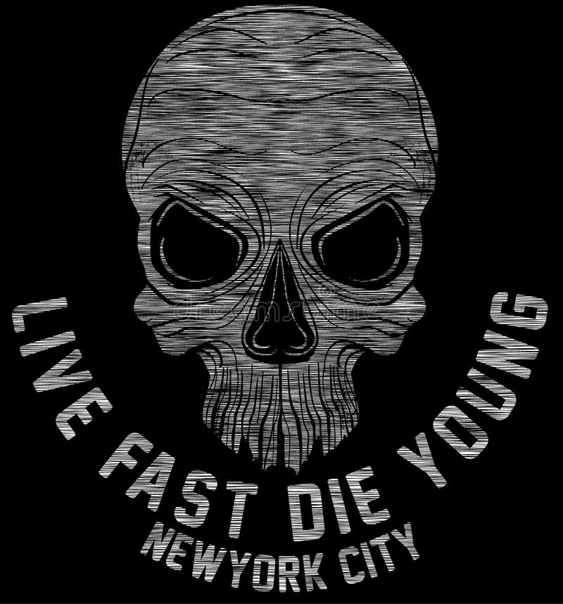 New york riders motorcycle club tee graphic design. Fashion style royalty free illustration