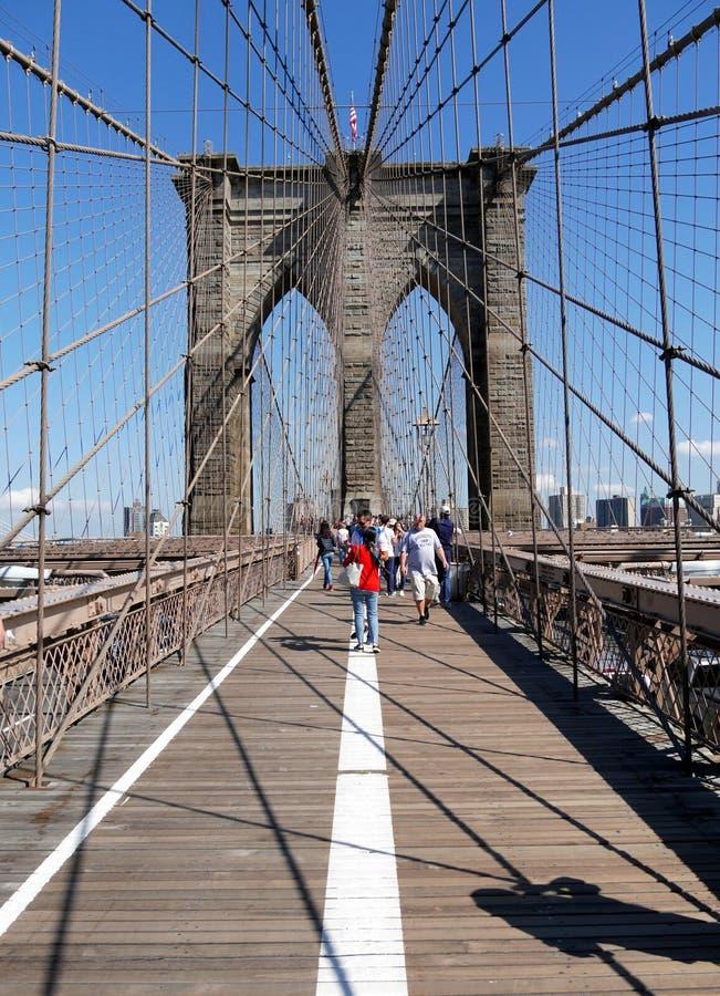 Unique Silhouette of Brooklyn Bridge New York City stock photos