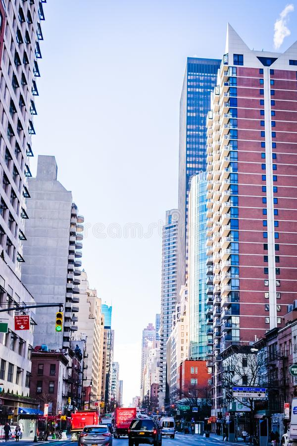 New York Scence of Streets. This image was taken while traveling the streets of NY in December 2017 royalty free stock image