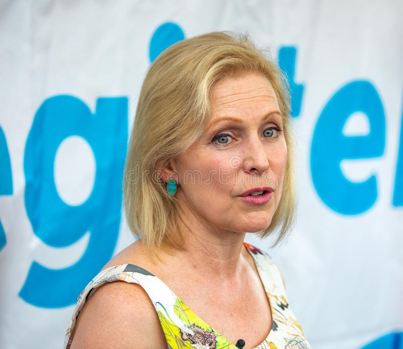 New York Senator and Democratic Presidential Candidate Kirsten Gillibrand royalty free stock photo