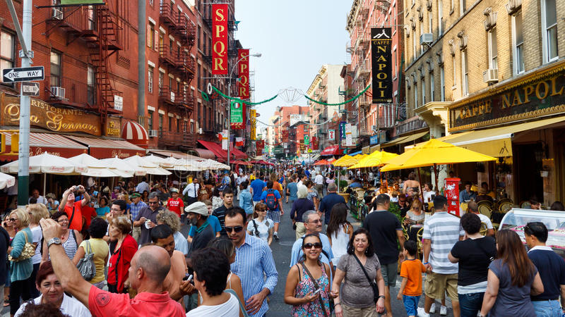 La peu d'Italie, New York City photographie stock