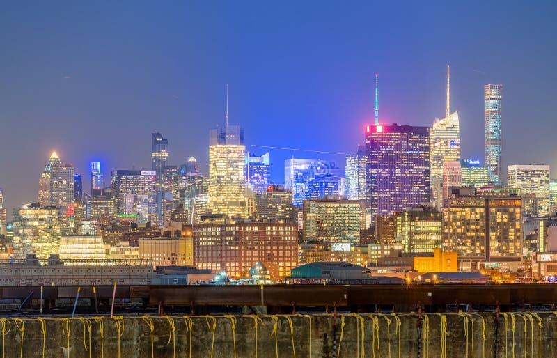 NEW YORK - 22 SETTEMBRE 2015: Notte meravigliosa SK di Manhattan immagini stock
