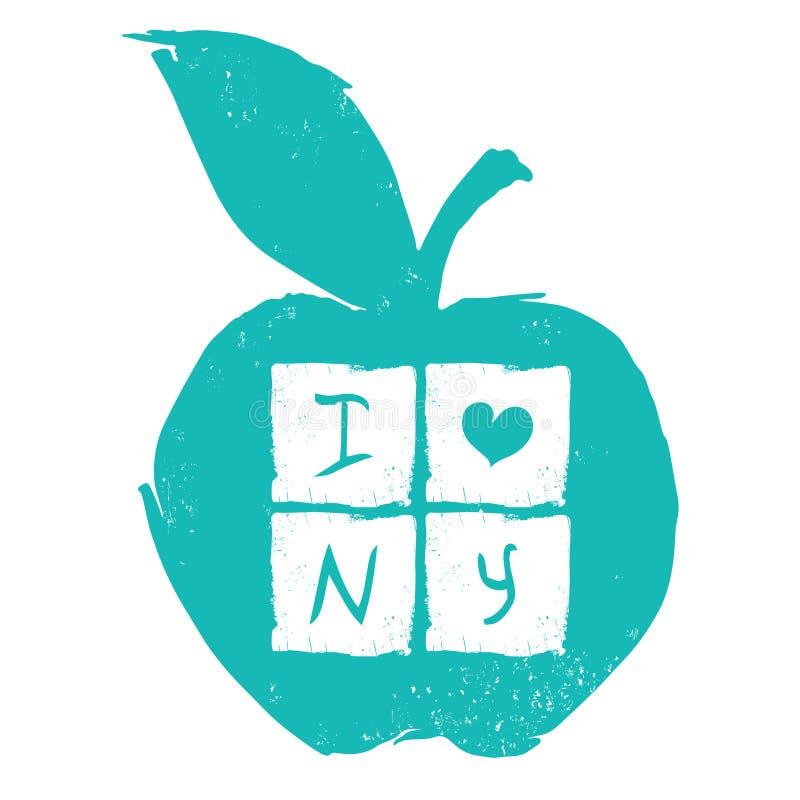 New York shoppingtema stock illustrationer
