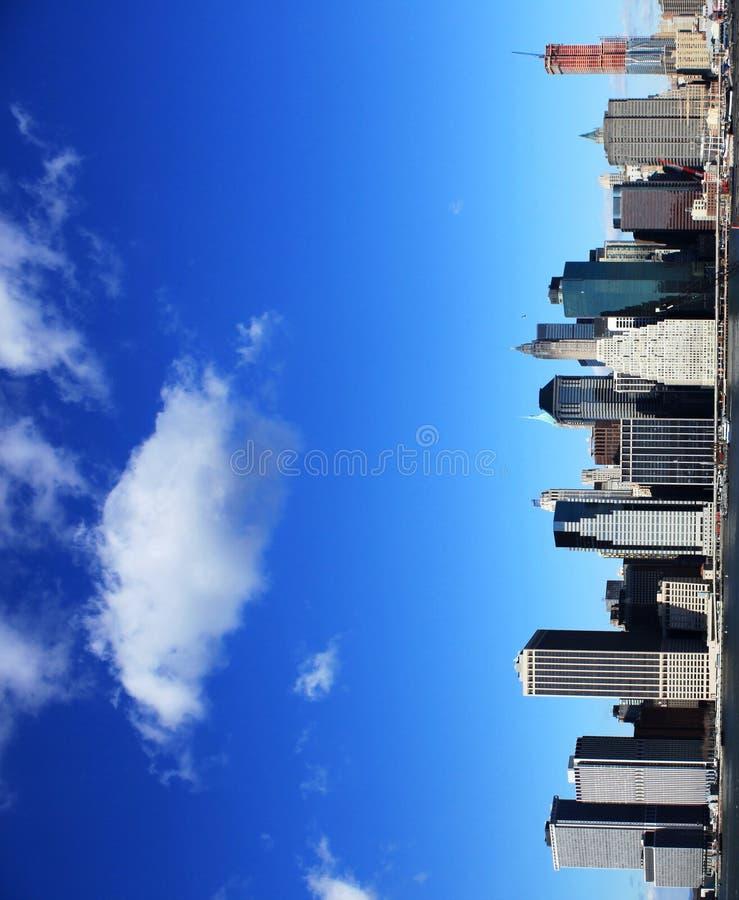 New York sky line stock photo